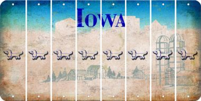 Iowa DOG Cut License Plate Strips (Set of 8) LPS-IA1-073