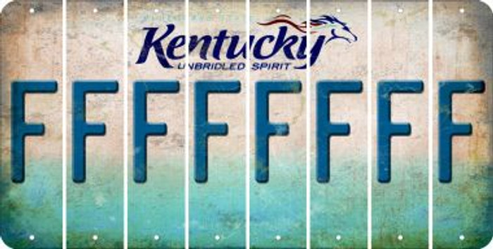 Kentucky F Cut License Plate Strips (Set of 8) LPS-KY1-006