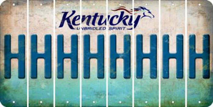 Kentucky H Cut License Plate Strips (Set of 8) LPS-KY1-008