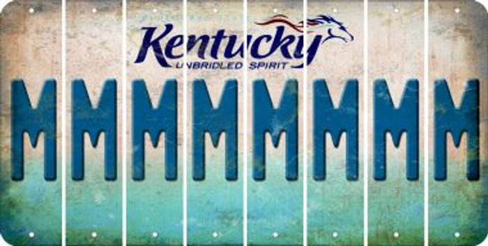 Kentucky M Cut License Plate Strips (Set of 8) LPS-KY1-013