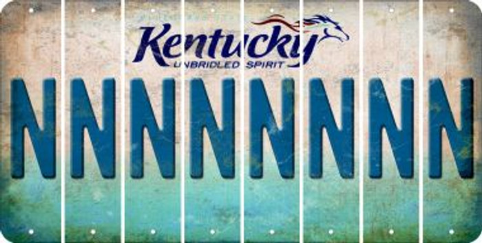 Kentucky N Cut License Plate Strips (Set of 8) LPS-KY1-014