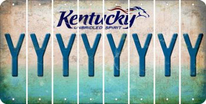 Kentucky Y Cut License Plate Strips (Set of 8) LPS-KY1-025