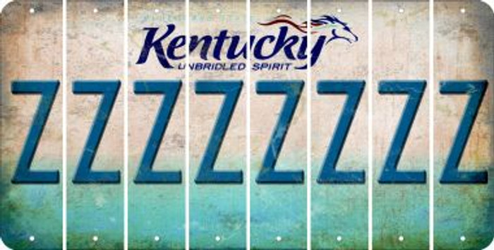 Kentucky Z Cut License Plate Strips (Set of 8) LPS-KY1-026