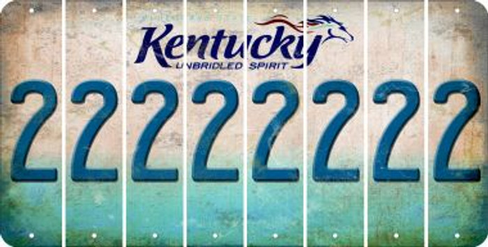 Kentucky 2 Cut License Plate Strips (Set of 8) LPS-KY1-029