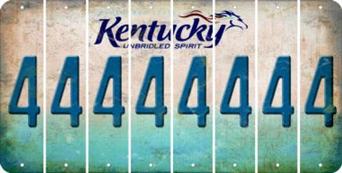 Kentucky 4 Cut License Plate Strips (Set of 8) LPS-KY1-031