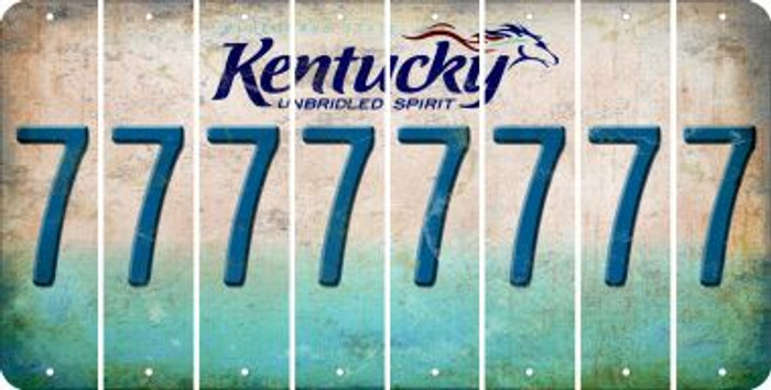 Kentucky 7 Cut License Plate Strips (Set of 8) LPS-KY1-034