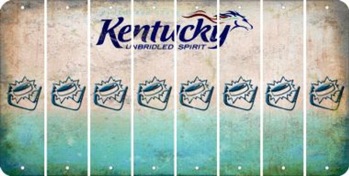Kentucky HOCKEY Cut License Plate Strips (Set of 8) LPS-KY1-062