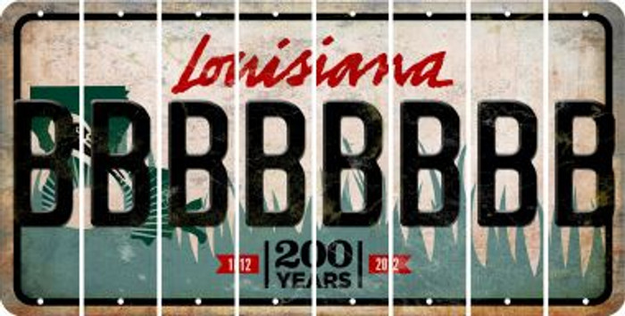 Louisiana B Cut License Plate Strips (Set of 8) LPS-LA1-002