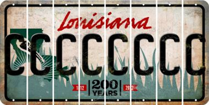 Louisiana C Cut License Plate Strips (Set of 8) LPS-LA1-003