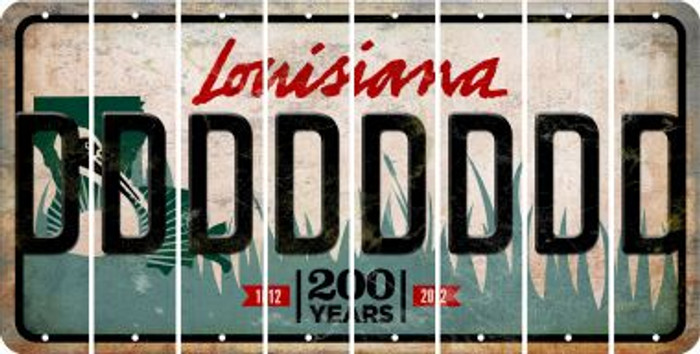 Louisiana D Cut License Plate Strips (Set of 8) LPS-LA1-004