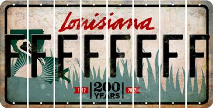 Louisiana F Cut License Plate Strips (Set of 8) LPS-LA1-006