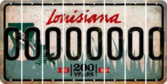 Louisiana 0 Cut License Plate Strips (Set of 8) LPS-LA1-027