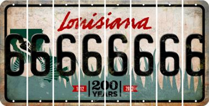 Louisiana 6 Cut License Plate Strips (Set of 8) LPS-LA1-033