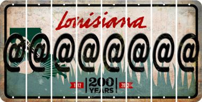 Louisiana ASPERAND Cut License Plate Strips (Set of 8) LPS-LA1-039