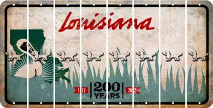 Louisiana DOG Cut License Plate Strips (Set of 8) LPS-LA1-073