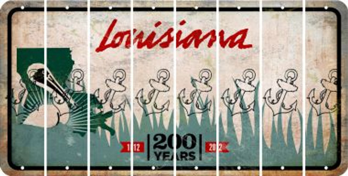 Louisiana ANCHOR Cut License Plate Strips (Set of 8) LPS-LA1-093