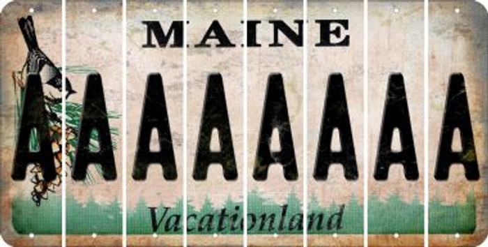 Maine A Cut License Plate Strips (Set of 8) LPS-ME1-001