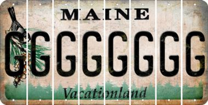 Maine G Cut License Plate Strips (Set of 8) LPS-ME1-007
