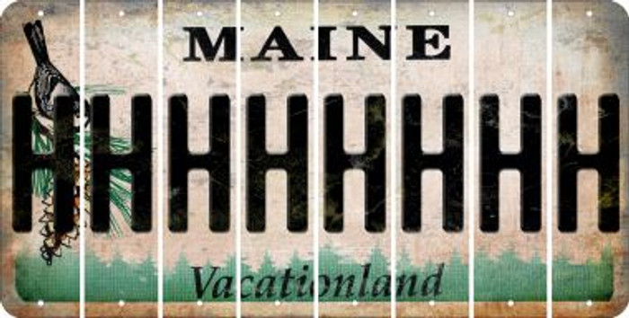 Maine H Cut License Plate Strips (Set of 8) LPS-ME1-008