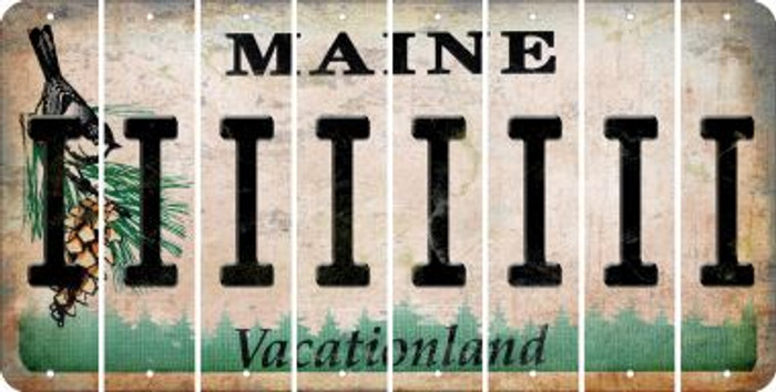 Maine I Cut License Plate Strips (Set of 8) LPS-ME1-009