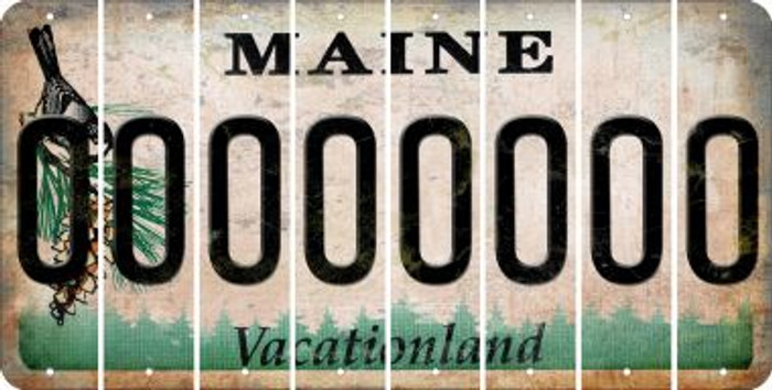 Maine O Cut License Plate Strips (Set of 8) LPS-ME1-015