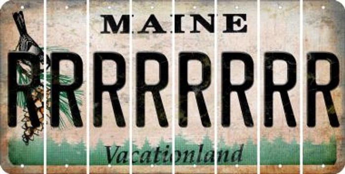 Maine R Cut License Plate Strips (Set of 8) LPS-ME1-018