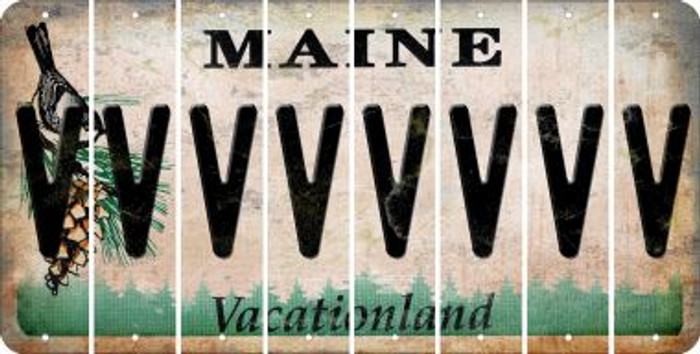 Maine V Cut License Plate Strips (Set of 8) LPS-ME1-022