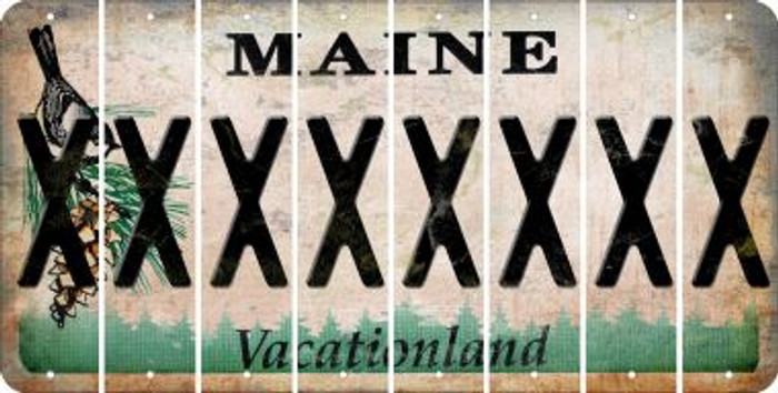 Maine X Cut License Plate Strips (Set of 8) LPS-ME1-024