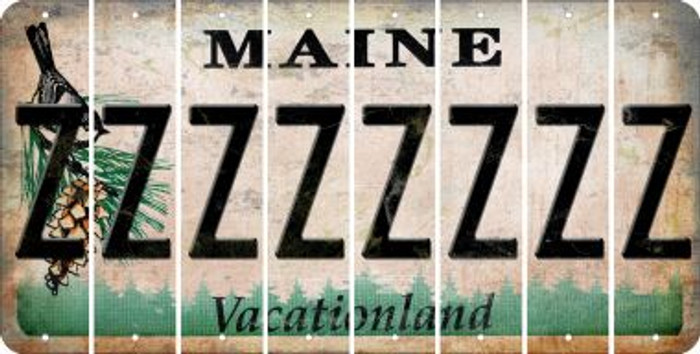 Maine Z Cut License Plate Strips (Set of 8) LPS-ME1-026