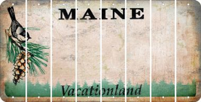 Maine BLANK Cut License Plate Strips (Set of 8) LPS-ME1-037