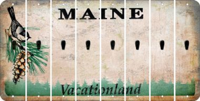 Maine APOSTROPHE Cut License Plate Strips (Set of 8) LPS-ME1-038