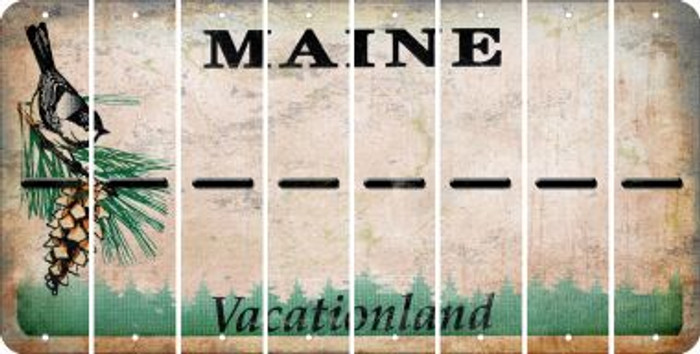 Maine HYPHEN Cut License Plate Strips (Set of 8) LPS-ME1-044