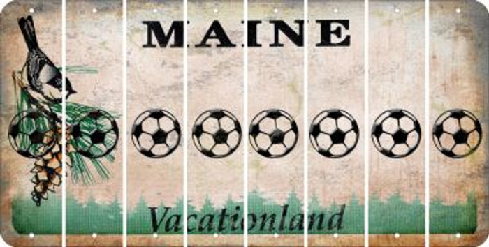 Maine BASEBALL / SOFTBALL Cut License Plate Strips (Set of 8) LPS-ME1-063