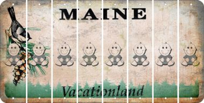 Maine BABY BOY Cut License Plate Strips (Set of 8) LPS-ME1-066