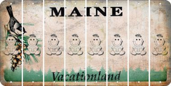 Maine BABY GIRL Cut License Plate Strips (Set of 8) LPS-ME1-067