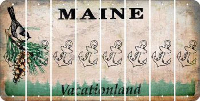 Maine ANCHOR Cut License Plate Strips (Set of 8) LPS-ME1-093