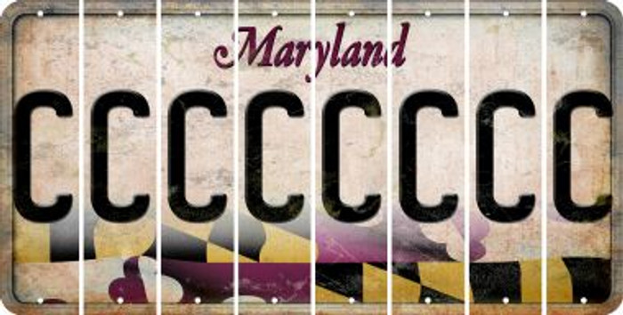 Maryland C Cut License Plate Strips (Set of 8) LPS-MD1-003