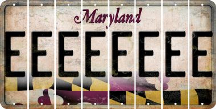 Maryland E Cut License Plate Strips (Set of 8) LPS-MD1-005