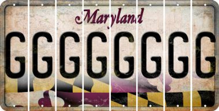 Maryland G Cut License Plate Strips (Set of 8) LPS-MD1-007