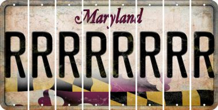 Maryland R Cut License Plate Strips (Set of 8) LPS-MD1-018