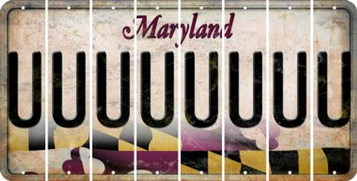 Maryland U Cut License Plate Strips (Set of 8) LPS-MD1-021