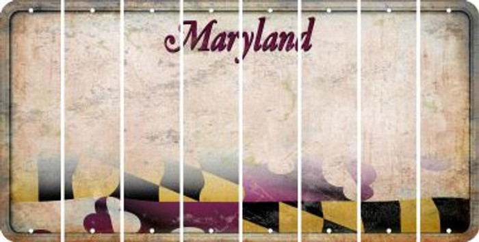 Maryland BLANK Cut License Plate Strips (Set of 8) LPS-MD1-037