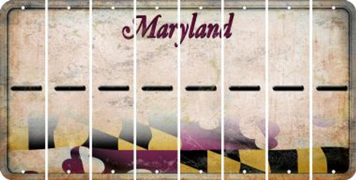 Maryland HYPHEN Cut License Plate Strips (Set of 8) LPS-MD1-044