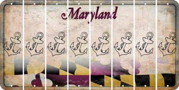 Maryland ANCHOR Cut License Plate Strips (Set of 8) LPS-MD1-093