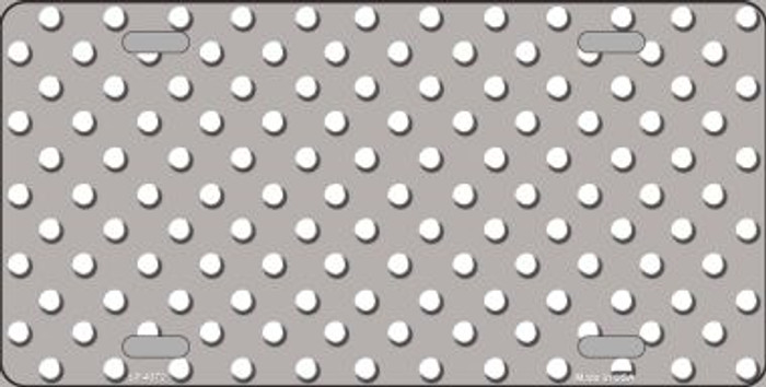 Grey White Polka Dot Wholesale Metal Novelty License Plate