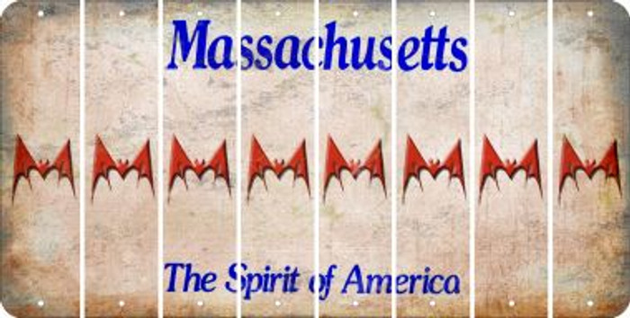 Massachusetts BAT Cut License Plate Strips (Set of 8) LPS-MA1-074