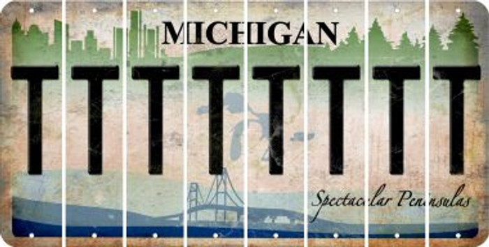 Michigan T Cut License Plate Strips (Set of 8) LPS-MI1-020