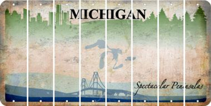 Michigan BLANK Cut License Plate Strips (Set of 8) LPS-MI1-037