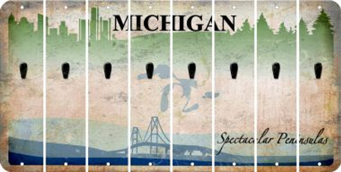 Michigan APOSTROPHE Cut License Plate Strips (Set of 8) LPS-MI1-038