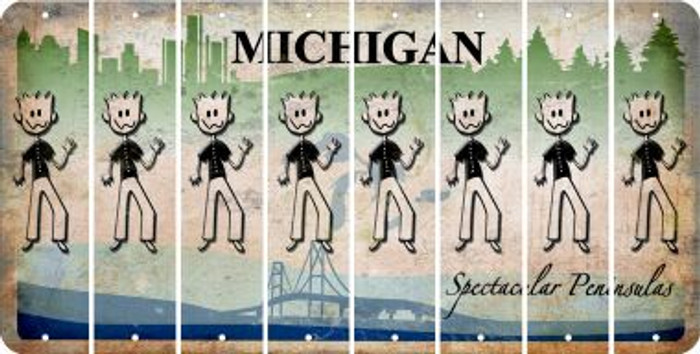 Michigan DAD Cut License Plate Strips (Set of 8) LPS-MI1-071